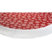 "Traditions by Waverly Round Tablecloth - 70"" in Snowflake - Closeouts"