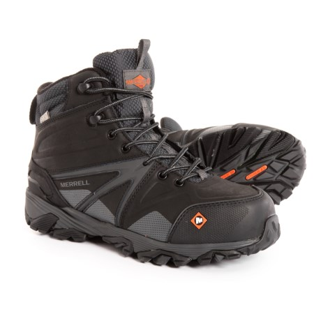 Image of Trailwork Mid Work Boots - Waterproof, Composite Safety Toe (For Men)