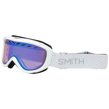 Transit Ski Goggles - Mirror Lens (For Women) in White/Blue Sensor - Closeouts