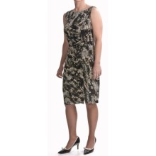 Travel by Tribal Abstract Dress - Side Gathering, Sleeveless (For Women) in Silver