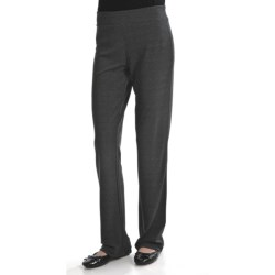 Travel by Tribal Sportswear Basic Knit Stretch Pants (For Women) in Charcoal