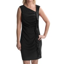 Travel by Tribal Sportswear Ruffled Jersey Dress - Sleeveless (For Women) in Black