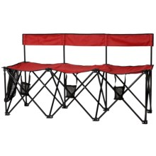 Travel Chair TravelBench El Grande Chair - 3 Seat in Red - Closeouts