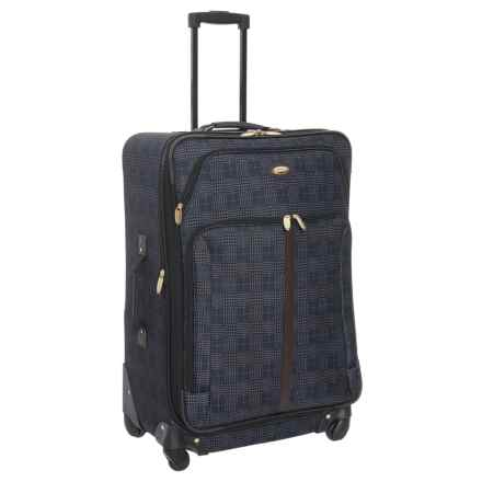 "Travel Gear 21"" Triton Expandable Spinner Carry-On Suitcase in Navy Slate - Closeouts"