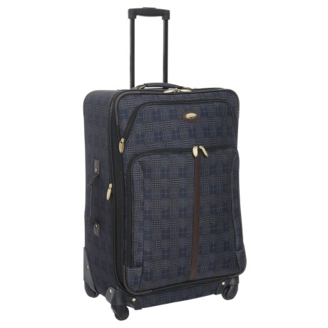 "Travel Gear 21"" Triton Expandable Spinner Carry-On Suitcase in Navy Slate"