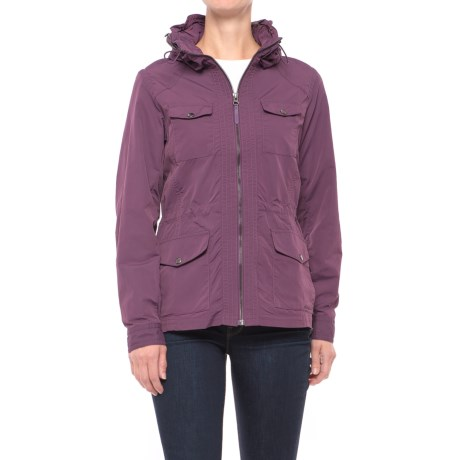 Travel Utility Jacket (For Women) in Plum