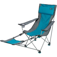 TravelChair Big Bubba Camp Chair - Footrest in Blue/Grey - Closeouts