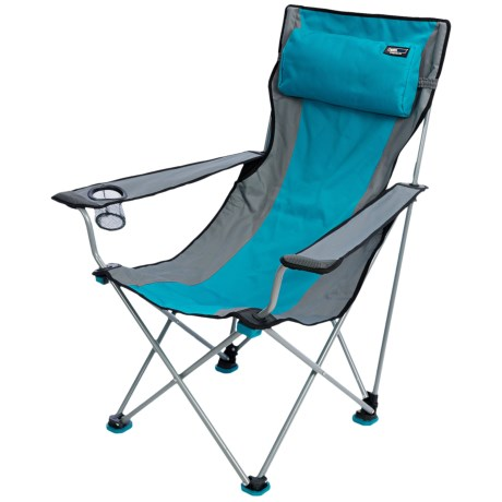 TravelChair Big Bubba Folding Chair in Blue/Grey