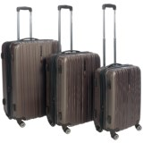 Traveler's Choice Tasmania Hard Case Spinner Luggage Set - 3-Piece, Expandable