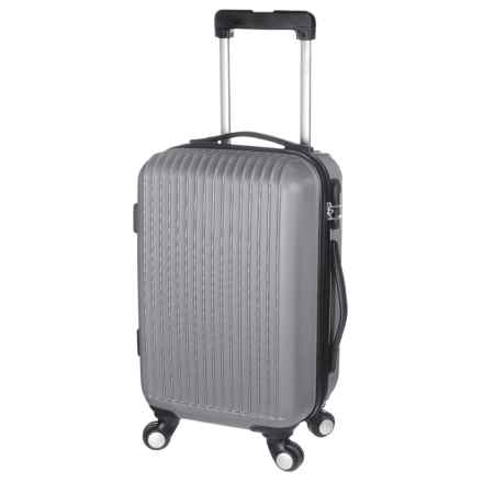 """Traveler's Choice 24"""" Elite Spinner Suitcase - Hardside in Silver - Closeouts"""
