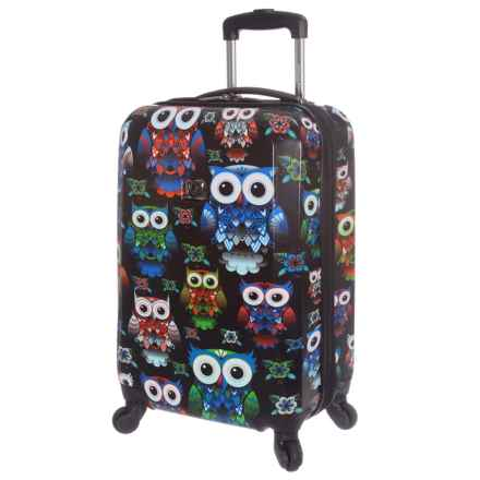 "Traveler's Choice Owl Expandable Spinner Suitcase - Hardside, 22"" in Owl - Closeouts"