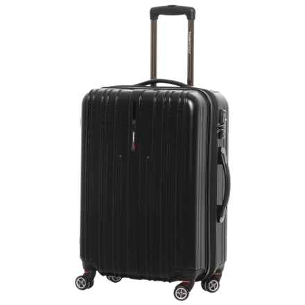 """Traveler's Choice Tasmania Spinner - Hardside, Expandable, 25"""" in Black - Closeouts"""