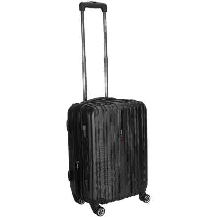 "Traveler's Choice Tasmania Spinner Suitcase - Hardside, Expandable, 20"" in Black - Closeouts"