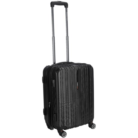 "Traveler's Choice Tasmania Spinner Suitcase - Hardside, Expandable, 20"" in Black"