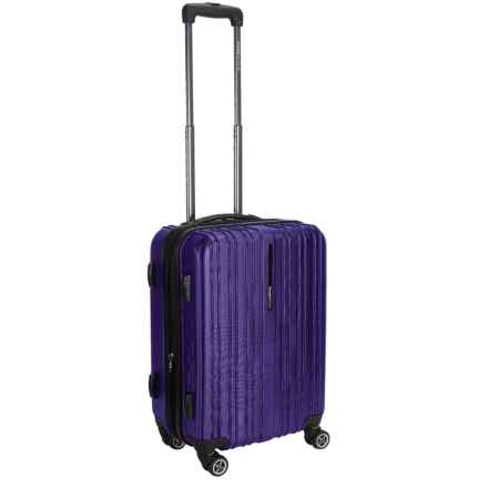 "Traveler's Choice Tasmania Spinner Suitcase - Hardside, Expandable, 20"" in Purple - Closeouts"