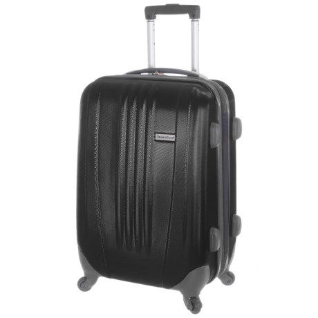 "Traveler's Choice Toronto Spinner Suitcase - Hardside, Expandable, 29"" in Black"