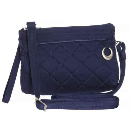 Travelon Anti-Theft Boho Clutch Crossbody Bag (For Women) in Navy - Closeouts