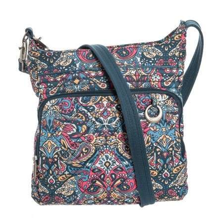 ac8550c484 Travelon Anti-Theft Boho North and South Crossbody Bag (For Women) in  Paisley