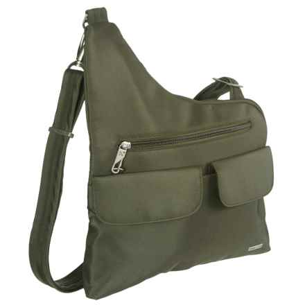 Travelon Anti-Theft Classic Crossbody Bag in Olive - Closeouts