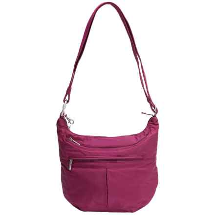 Travelon Anti-Theft Classic Light Slouch Hobo (For Women) in Dark Berry - Closeouts