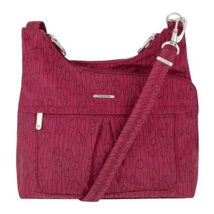 dc5fa0cc7 Travelon Anti-Theft Crinkle Nylon Crossbody Bag (For Women) in Red/Purple