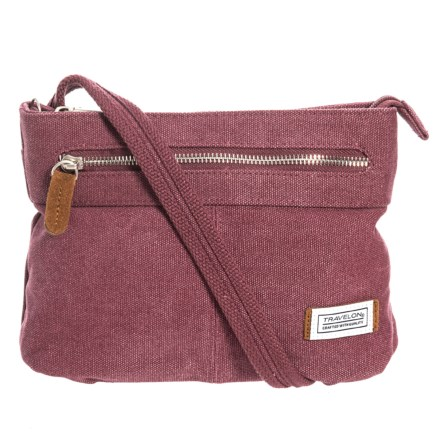 2410b0747 Travelon Anti-Theft Heritage Canvas Crossbody Bag - Small (For Women) in  Wine