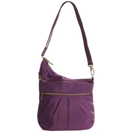 Travelon Anti-Theft Signature 3 Compartment Crossbody Bag (For Women) in Purple - Closeouts