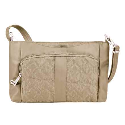 Travelon Anti-Theft Signature E/W Slim Bag (For Women) in Champagne - Closeouts