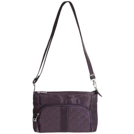 Travelon Anti-Theft Signature E/W Slim Bag (For Women) in Eggplant - Closeouts