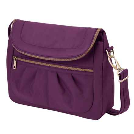 Travelon Anti-Theft Signature Flap Compartment Bag (For Women) in Purple - Closeouts