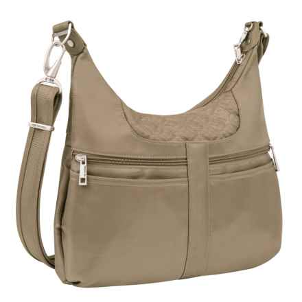 Travelon Anti-Theft Signature Multi-Pocket Hobo Bag (For Women) in Champagne - Closeouts