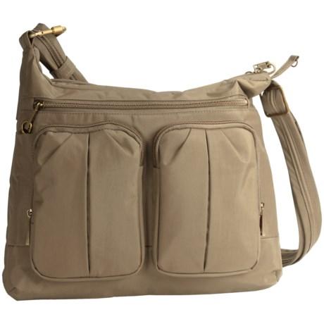 Travelon Anti-Theft Signature Twin Pocket Hobo  Bag (For Women) in Khaki