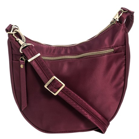 adc62b4ac0 Travelon Anti-Theft Slouch Top Crossbody Bag (For Women) in Dark Bordeaux