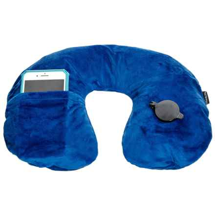 Travelon Deluxe Inflatable Pillow with Removable Cover in Cobalt - Closeouts