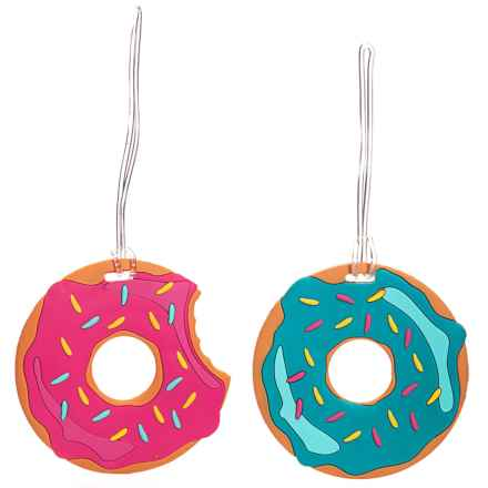 Travelon Die-Cut Theme Luggage Tags - Set of 2 in Doughnuts - Closeouts