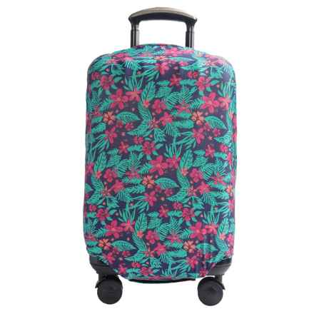 "Travelon Medium Luggage Cover - Fits 22-26"" Suitcases in Coral Floral - Closeouts"