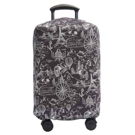 "Travelon Medium Luggage Cover - Fits 22-36"" Suitcases in Black Print - Closeouts"