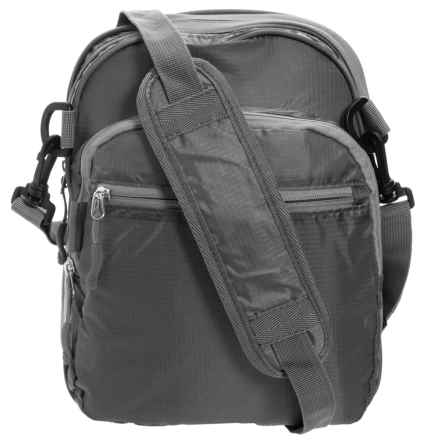 """Travelon Packable 2-in-1 Messenger Crossbody/Duffel - 21"""" (For Women) in Charcoal - Closeouts"""