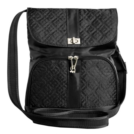 "Travelon Signature Messenger Bag - 12x11x1-1/2"" in Black"