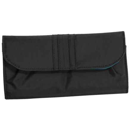 Travelon Signature Pleated RFID Envelope Wallet (For Women) in Black - Closeouts