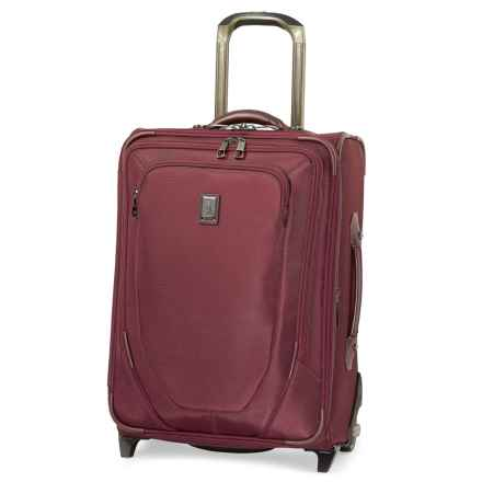 "Travelpro Crew 10 Expandable Business Plus Rollaboard Carry-On Suitcase - 20"" in Merlot - Closeouts"