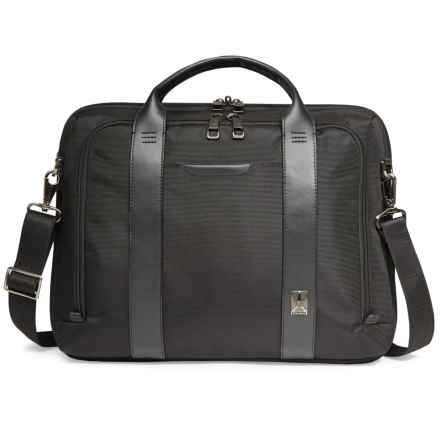 Travelpro Crew Executive Choice Checkpoint-Friendly Slim Briefcase in Black - Closeouts