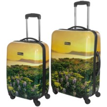 "Travelpro NG Explorer Hardside Spinner Luggage - 2-Piece Set, 20"" and 24"" in Flowers - Closeouts"