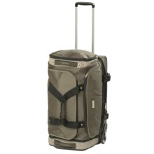 """Travelpro Northwall Collection Expandable Drop-Bottom Rolling Duffel Bag - 26"""" in Green/Tan - Closeouts"""