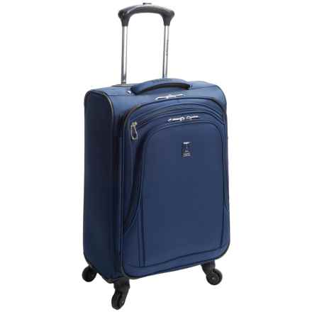 "Travelpro Sapphire Elite Carry-On Mobile Office Spinner Suitcase - 21"", Expandable in Blue - Closeouts"