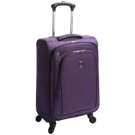 "Travelpro Sapphire Elite Carry-On Mobile Office Spinner Suitcase - 21"", Expandable in Grape - Closeouts"