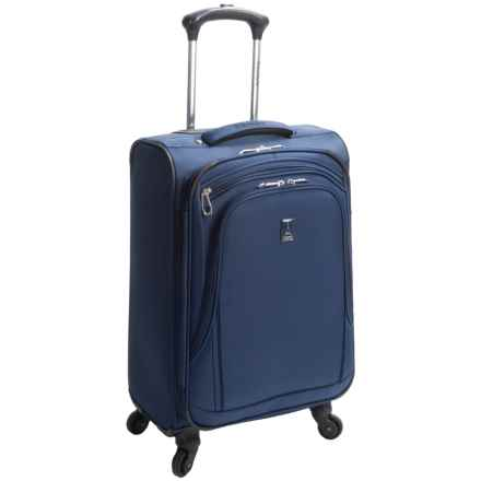 "Travelpro Sapphire Elite Carry-On Mobile Office Spinner Suitcase - 21"", Expandable in Navy - Closeouts"