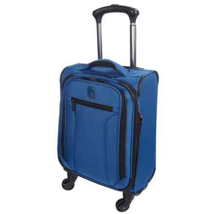 "Travelpro Toplite Elite Compact Expandable Carry-On Spinner Suitcase - 19"" in Bright Blue - Closeouts"