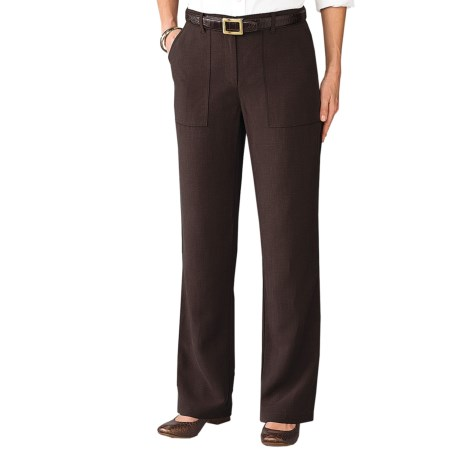 TravelSmith City Safari Pants (For Women) in Chocolate