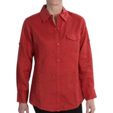 TravelSmith Easy Linen Shirt - Long Sleeve (For Women) in Brick Red - Closeouts